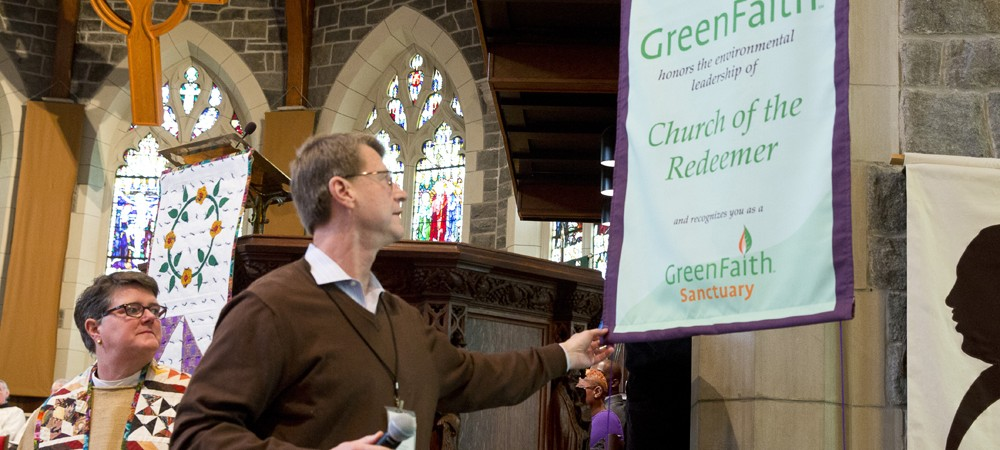 Gary receives our GreenFaith certification